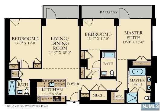 Condominium for Sale at 1200 Ave At Port Imperial , Unit 404 1200 Ave At Port Imperial , Unit 404 Weehawken, New Jersey 07086 United States