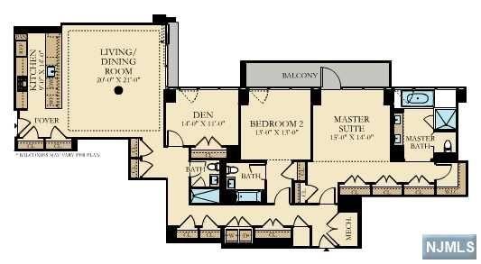 Condominium for Sale at 1200 Ave At Port Imperial , Unit 711 1200 Ave At Port Imperial , Unit 711 Weehawken, New Jersey 07086 United States