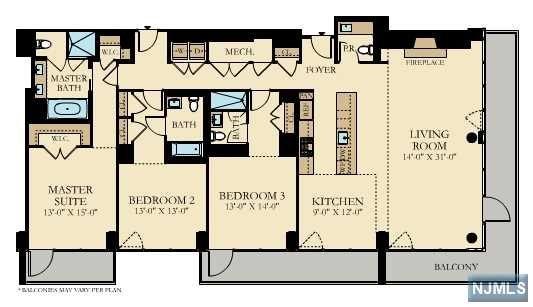 Condominium for Sale at 1200 Ave At Port Imperial , Unit 416 1200 Ave At Port Imperial , Unit 416 Weehawken, New Jersey 07086 United States