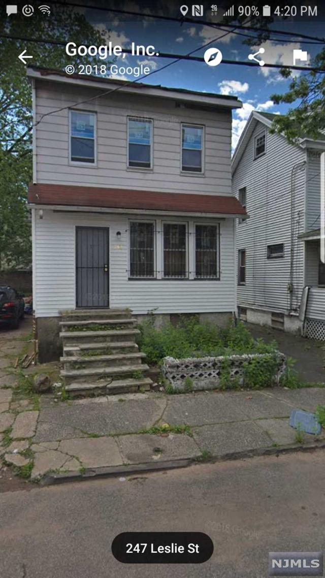 Single Family Home for Sale at 248 Leslie Street 248 Leslie Street Newark, New Jersey 07112 United States