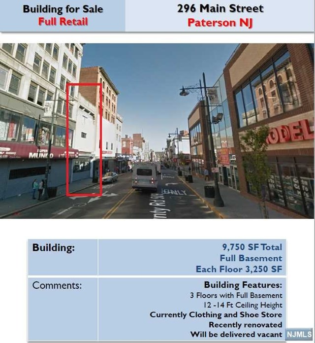 Additional photo for property listing at 296 Main Street Paterson, New Jersey 07505 United States